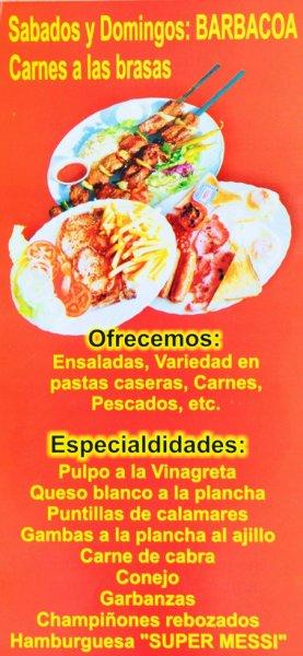 Restaurante de comida casera con servicio a domicilio Menu comida casera
