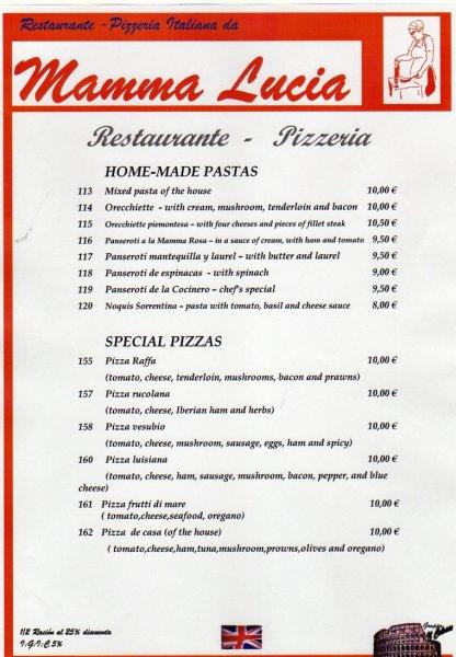 Restaurante mamma lucia en los gigantes puerto santiago for Restaurantes de comida italiana